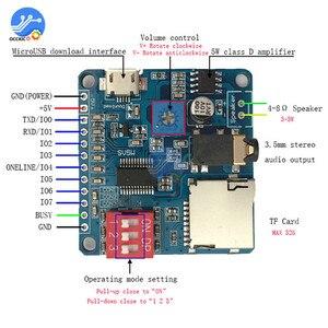 Image 4 - MP3プレーヤーモジュールミニクリップ5ワットMP3プレーヤー音楽スピーカーオーディオサウンドプレイヤーmp3ボードシリアルポート制御ioモジュールをトリガ