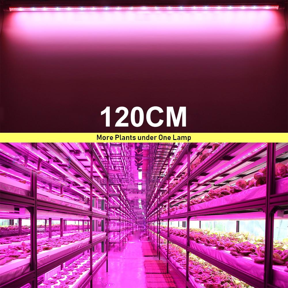 5pcs/lot 60cm 90cm 120cm T8 Tube Full Spectrum Hydroponic LED Grow Light Bar 30W 45W 60W Plant Grow Lamps for vegs grow tent