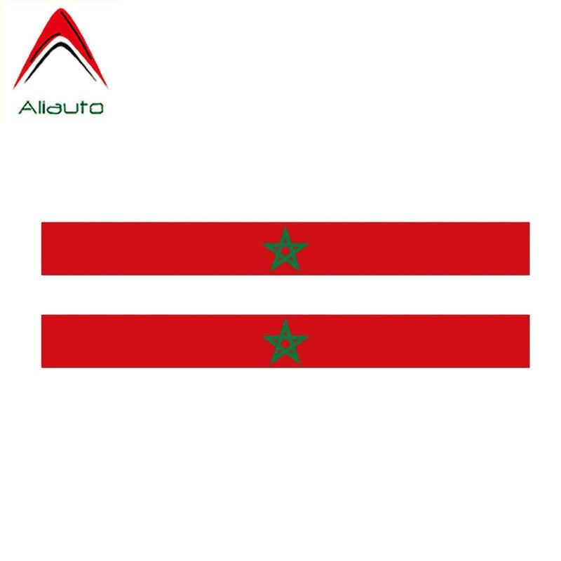 Aliauto 2 X Creative Auto Sticker Marokko Vlag Accessoires Vinyl Decal Cover Krassen voor Opel Insignia Jaguar Hyundai, 17cm * 2cm