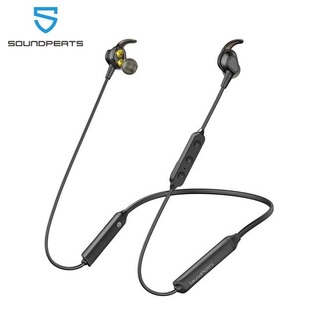 Soundpeats エンジン bluetooth 5.0 ワイヤレスイヤホンネックバンドデュアルダイナミックドライバーイヤフォンマイク IPX6 防水 18hrs プレイ時間