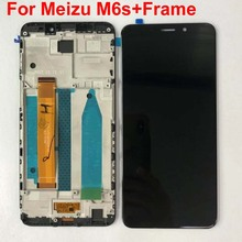 AAA Best Original 5.7 For Meizu M6S Meilan S6 Mblu S6 M712H M712Q LCD Screen Display+Touch Panel Digitizer Frame For M6s Mblu S6