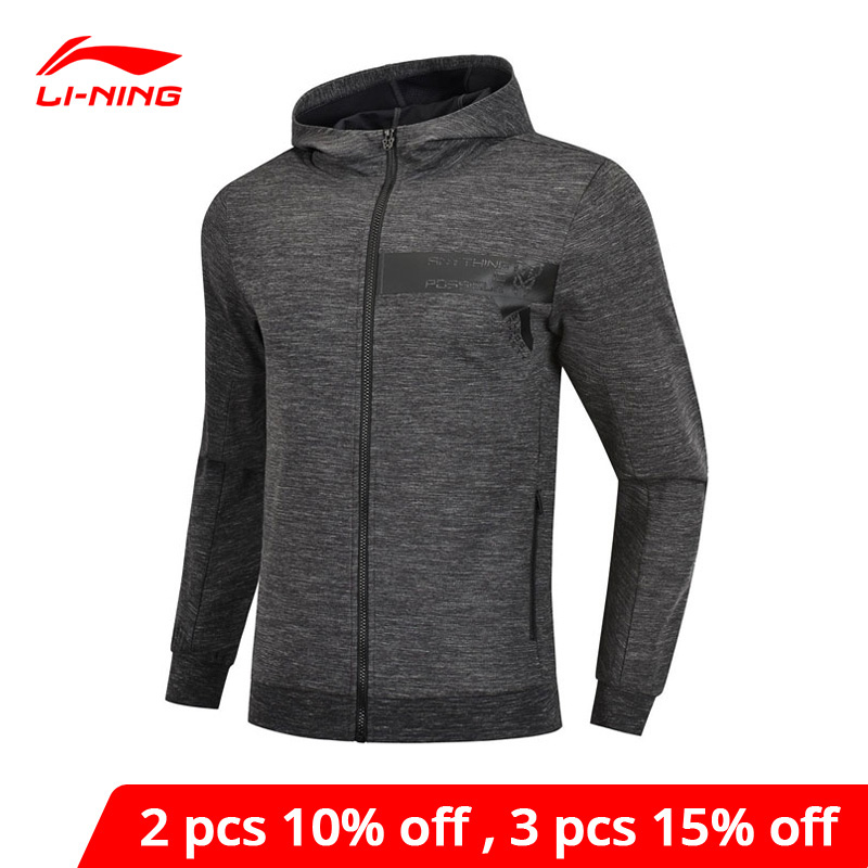 Li-Ning Men Basketball Hoodie 74%Cotton 26%Polyester Regular Fit Zipper LiNing Li Ning Sports Hooded Jackets AWDP123 MWW1528