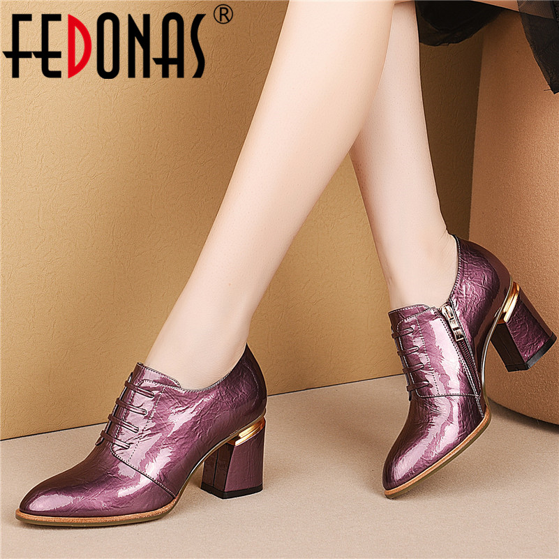FEDONAS 2020 Sexy Women Pumps High Heels Party Wedding Shoes Woman Quality Elegant Office Pumps Female Women Shoes New Pumps