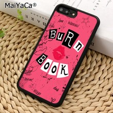 MaiYaCa Burn Book Mean Girls Kiss Phone Case Cover For iPhone 5 6s 7 8 plus 11 pro X XR XS max Samsung S6 S7 edge S8 S9 S10(China)