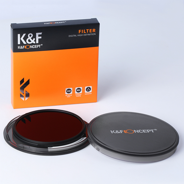 K&F Concept HD ND8 Filter Camera Lens Multi-Resistant Nano X Coating Filter Density 49mm 52mm 58mm 62mm 67mm 72mm 77mm 82mm 6