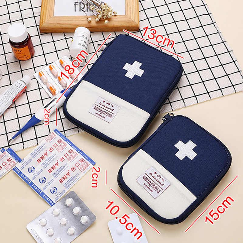Accessoires de voyage fonction Portable trousse de premiers soins médicament d'urgence coton tissu premiers soins médecine sac pilule étui diviseurs boîte
