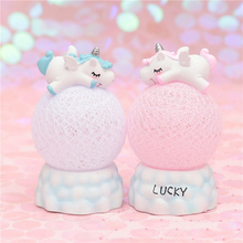 Rattan Ball Unicorn Led Night Light For Children Baby Kids Bedside Lamp Toy Animal Bedroom Decor Lighting Birthday Gift