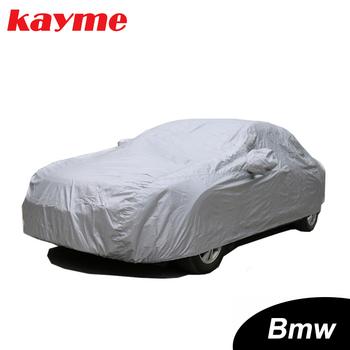 Kayme pełne pokrowce samochodowe pyłoszczelna zewnętrzna kryty UV odporna na śnieg ochrona przed słońcem pokrywa poliestrowa uniwersalna dla BMW tanie i dobre opinie 5 44m Polyester Pokrowce na samochód 1994-2019 BMW e46 e60 e39 x5 x6 x3 z4 e90 e36 f10 f30 e34 e30 UV Protection Dust proof