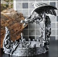 creative dinosaur metal creative ashtray cigar tray cute ashtrays standing ashtray vintage ashtray for home AT29