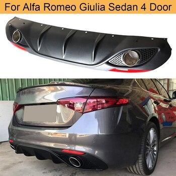 Difusor de parachoques trasero para coche, alerón para Alfa Romeo, Giulia, sedán,...