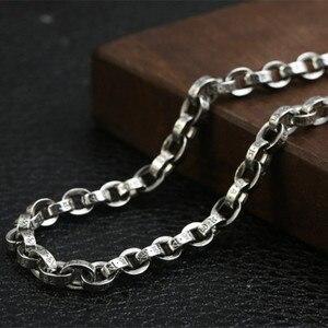 Image 2 - 59 Cm Gratis Verzending Groothandel 100% Echte Pure 925 Sterling Zilveren Ketting 9 Mm Dikke Ketting Mannen Gift Thai Zilver lange Ketting