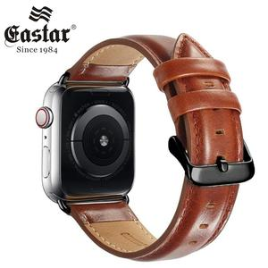 Image 1 - Genuine leather strap for apple watch band 42mm 44mm for apple watch 4/5 38mm 40mm correa replacement bracelet for iwatch 3/2/1