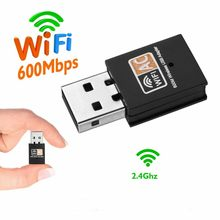 Mini USB WiFi Adapter USB Ethernet WiFi Dongle 600Mbps 2.4Ghz Lan WiFi Adapter PC Antena Wi-fi Ontvanger AC Draadloze Netwerkkaart(China)