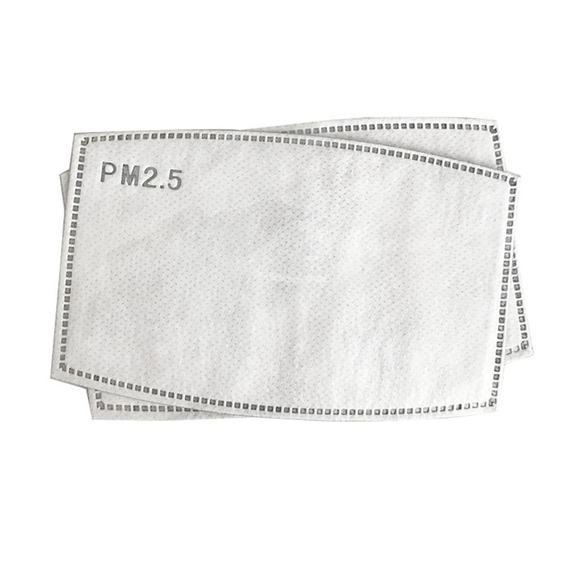 PM2.5 Face Mask 5 Layers Filter Face Mask  Filter Activated Carbon Breathing Filters Disposable Mask Three-layer Masks Health