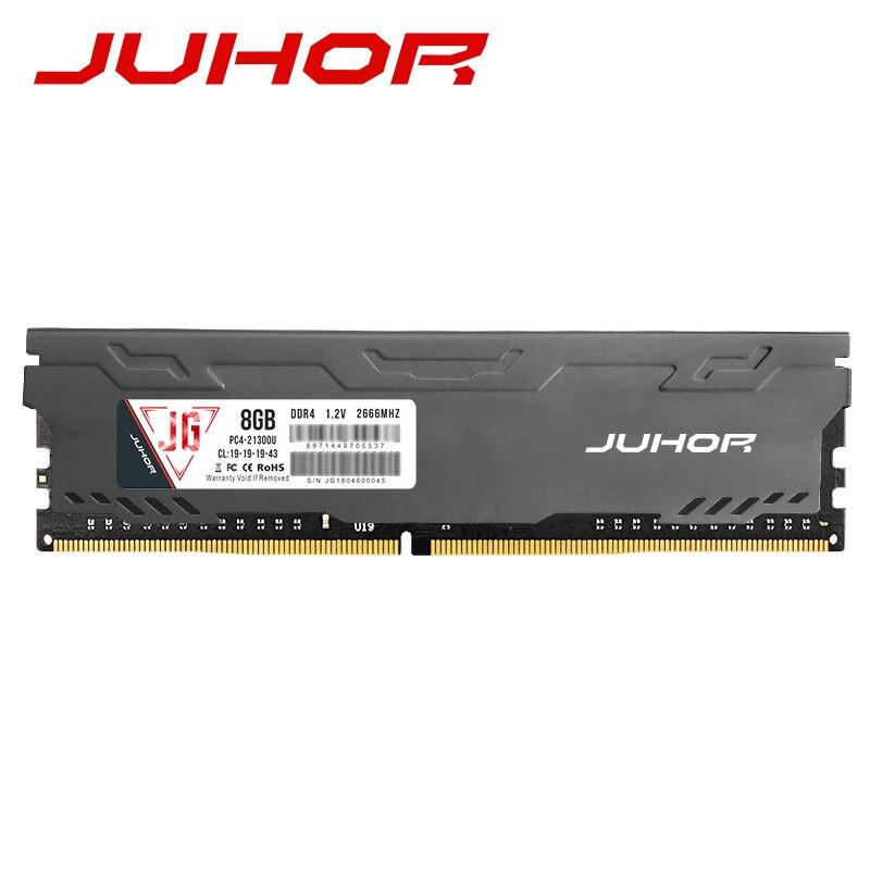JUHOR memoria ram ddr4 16GB 4GB 8GB  32GB Desktop Memory  udimm 2133mhz 2400mhz 2666mhz New dimm rams with  Heat sink 5