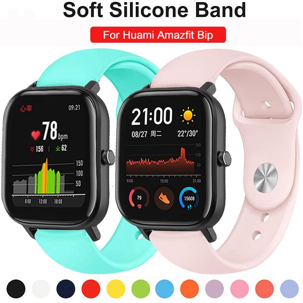 Gear S3 Strap For Samsung Galaxy Watch Band 46mm 42mm Sport Soft Silicone Bracelet Amazfit Bip Strap 20mm 22mm Belt Accessories