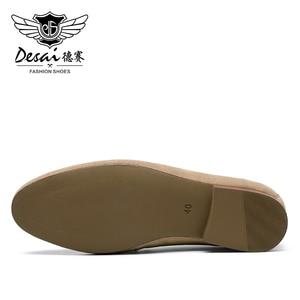 Image 4 - DESAI männer Casual Natura Echtem Leder Business Handgemachte Kleid Müßiggänger Männer Schuhe für Herren Loafer Atmungsaktive Hohe Qualität 2020