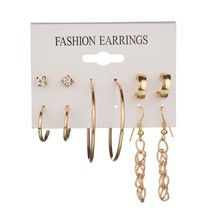 silver hoop earrings letter Stud Earrings Set small earring gift for women wedding party round wholesale