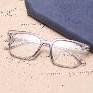 Image 1 - الموضة الكلاسيكية ساحة مكافحة نظارات الضوء الأزرق الرجال نظارات الكمبيوتر للنساء 2020 العلامة التجارية مصمم إطار نظارات شمسية شفافة