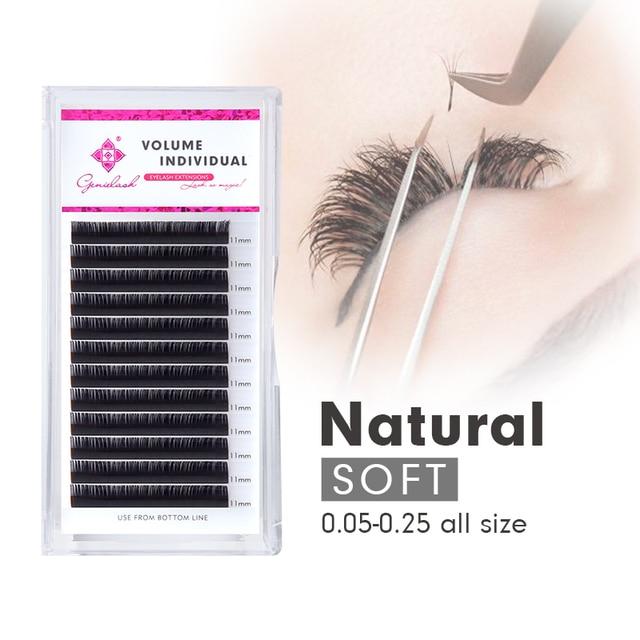 Genielash individual mink eyelashes russian volume eyelash extensions supplies mega volume lashes individual lash extension 2
