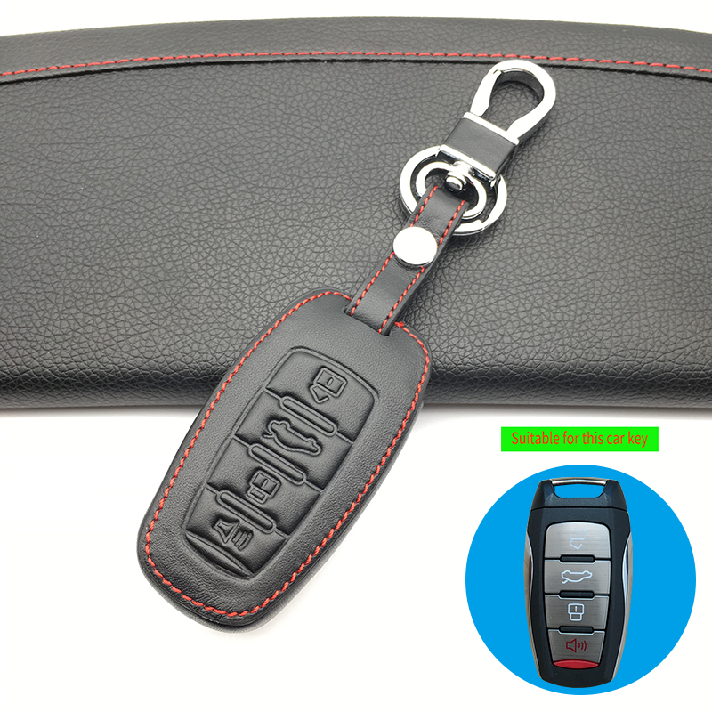 Sports Version Leather Key Case Cover Keychain For Great Wall Haval/Hover H6 H7 H4 H9 F5 F7 H2S Car-covers