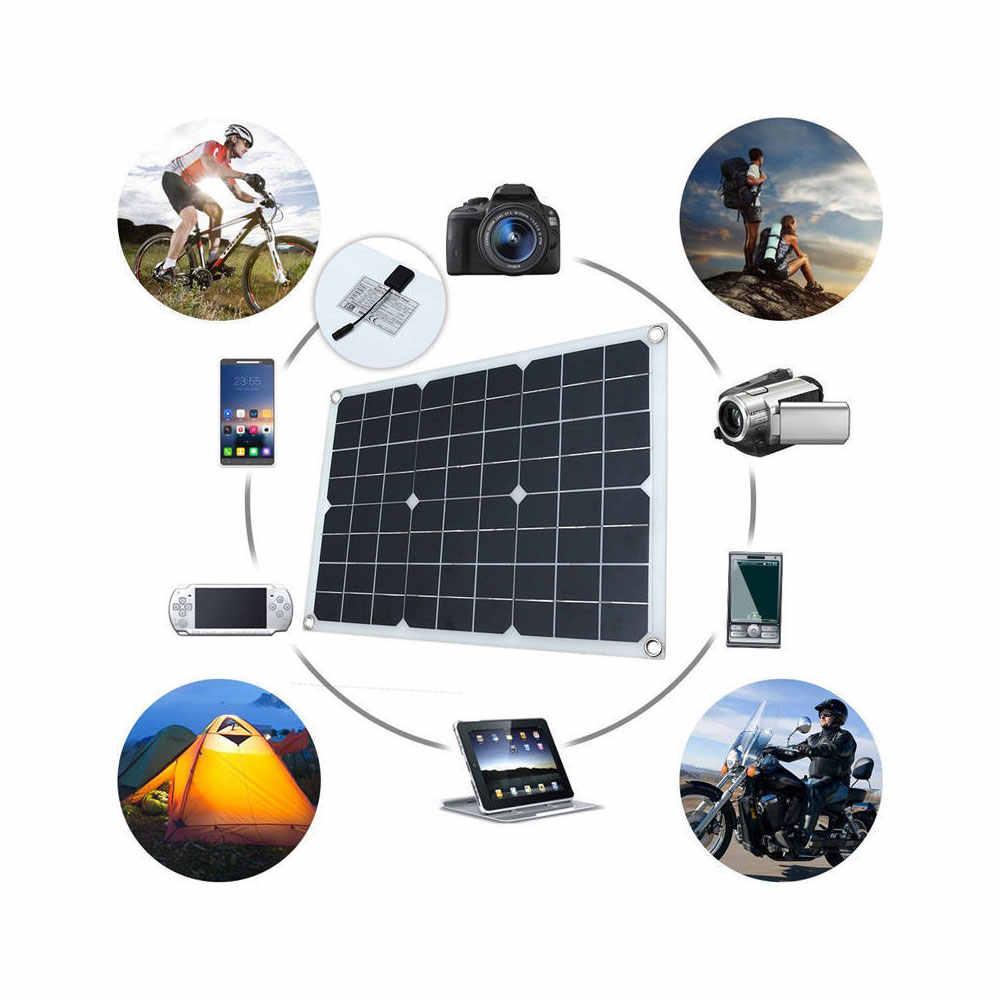 60 ワット 18 ソーラーパネル & ソーラー携帯用充電 & ホーム電源 & 太陽光発電バッテリー屋外用の緊急供給