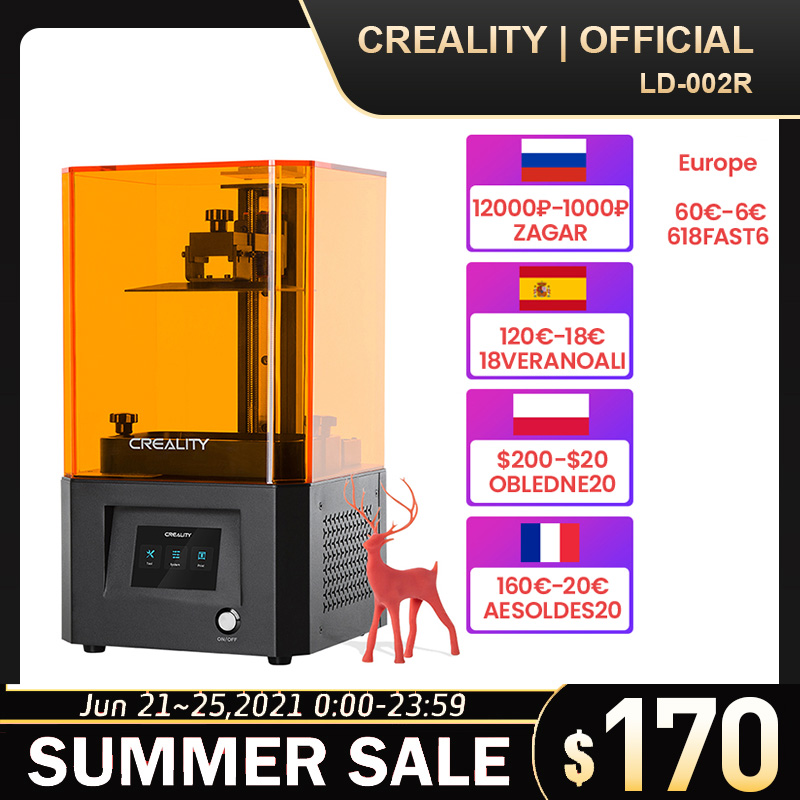 CREALITY 3D Printer LD-002R UV Resin 3D Printer LCD Photocuring Air Filtration System Off-line Printing SP/FR/PL Fast Delivery
