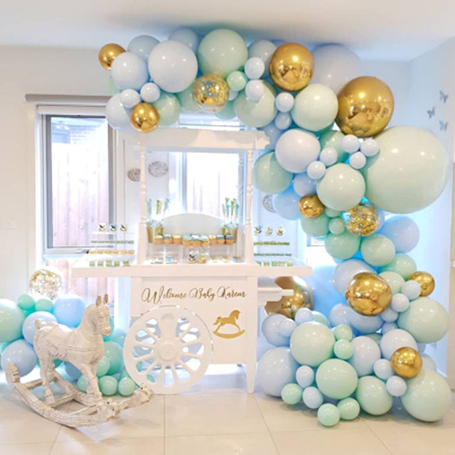 126 Pack Macaron Pastel Balloons Garland Arch Kit Confetti Balloon for Anniversary Wedding Party Decoration Baby Birthday Shower 1