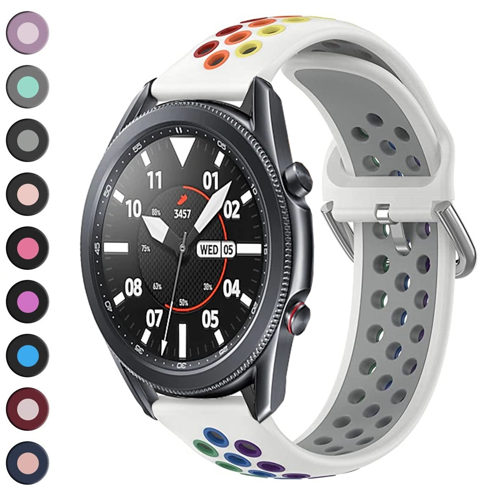 galaxy watch 3 strap 45mm 41mm rainbow strap <font><b>for</b></font> samsung active 2 huawei watch gt 2e 2 correa 22mm <font><b>20mm</b></font> <font><b>band</b></font> <font><b>for</b></font> <font><b>amazfit</b></font> bip gts image