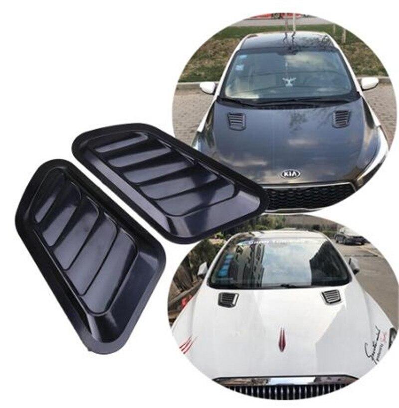 1 paire voiture décorative flux d'air prise Scoop Turbo capot Vent couverture capot garde-boue