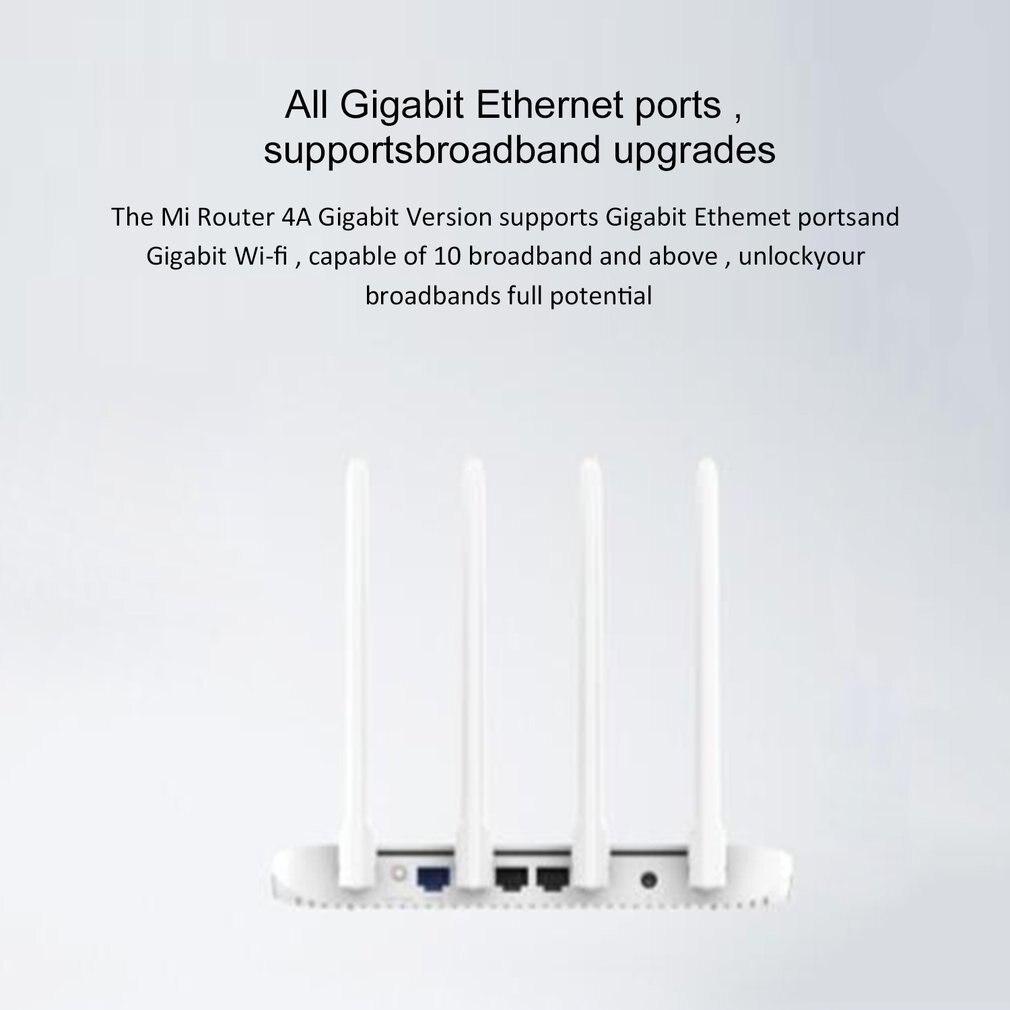 Глобальная версия Xiaomi Mi 4A маршрутизатор Gigabit edition 2,4 ГГц + 5 ГГц WiFi 16 Мб rom + 128 Мб DDR3 с высоким коэффициентом усиления 4 антенны приложение управл...