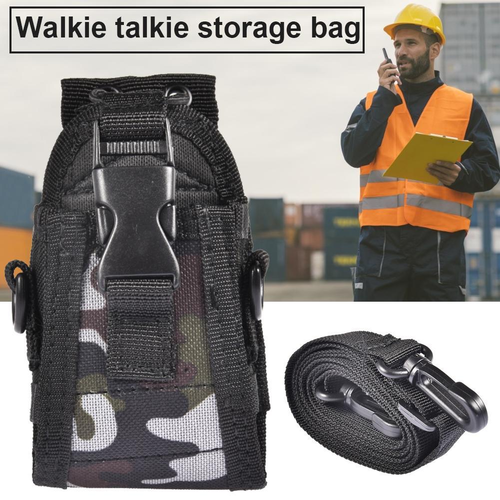 Multi-function Camouflage Walkie-talkie Radio Storage Bag For Yaesu Icom Case Holder For Baofeng UV-5R UV-82/Kenwood/Yaesu/Icom