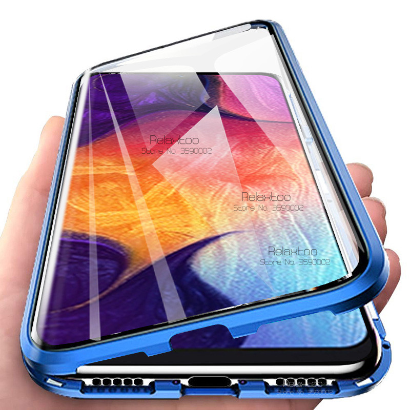 Magnetic Flip <font><b>Case</b></font> For <font><b>samsung</b></font> Galaxy a10 a10s a20 a20s a30 a30s a50 a50s a70 a70s <font><b>m30s</b></font> Double-side tempered <font><b>Glass</b></font> Cover coque image