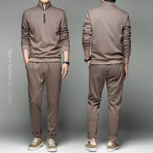 Trend-Set Turtleneck Matching Handsome Men's Fashion New Half Fall Autumn