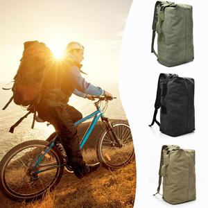 Image 5 - Military Tactical Canvas Backpack Men Male Big Durable Army Bucket Bag Outdoor Sports Duffle Shoulder Bag Casual Travel Rucksack