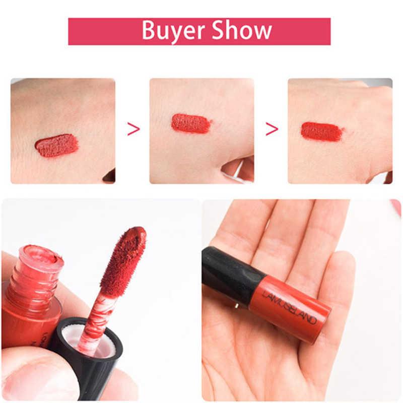 12 Warna Natural Matte Lip Gloss Tahan Air Tahan Lama Nude Lipstik Non-Stick Cup Makeup Kosmetik TSLM1