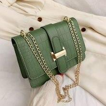 2021 Winter New Quality PU Leather Women's Designer Handbag Mini Square Flip Bag Stone Pattern Lock Chain Shoulder Messenger Bag