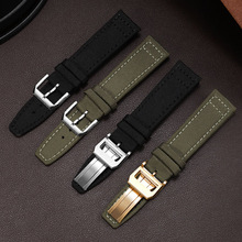 Nylon Watchband IWC 22mm Replacement-Strap Watch-Accessories 20mm 21mm for Army-Green