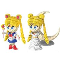 hot LegoINGlys creators classic japan Maiden image cartoon Sailor Moon micro diamond building blocks model nano bricks toys gift