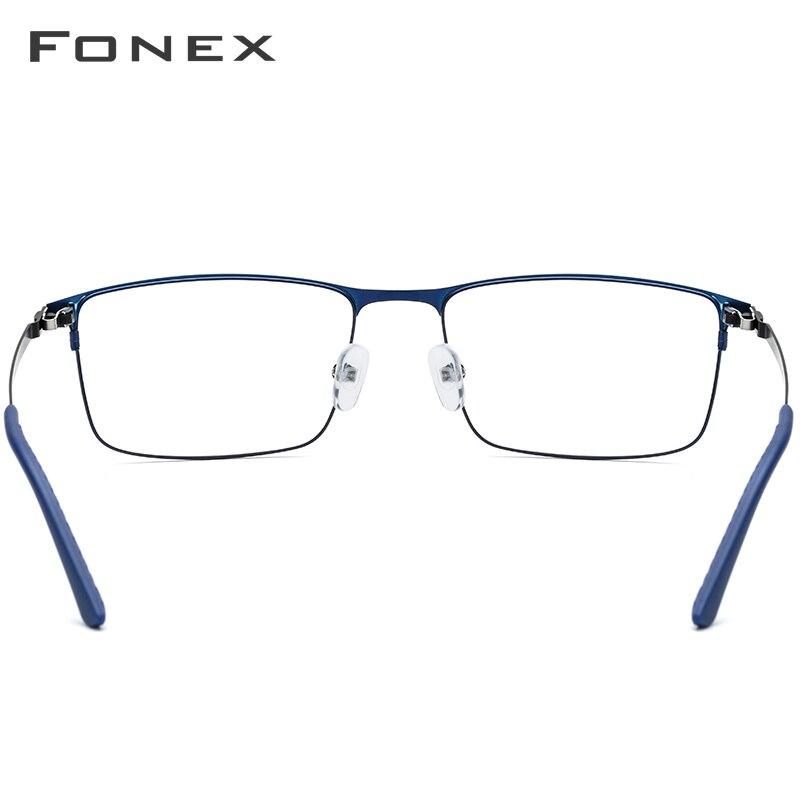 Alliage lunettes de Prescription hommes ultralégers carré myopie lunettes 2019 mâle monture optique complète sans vis lunettes - 3