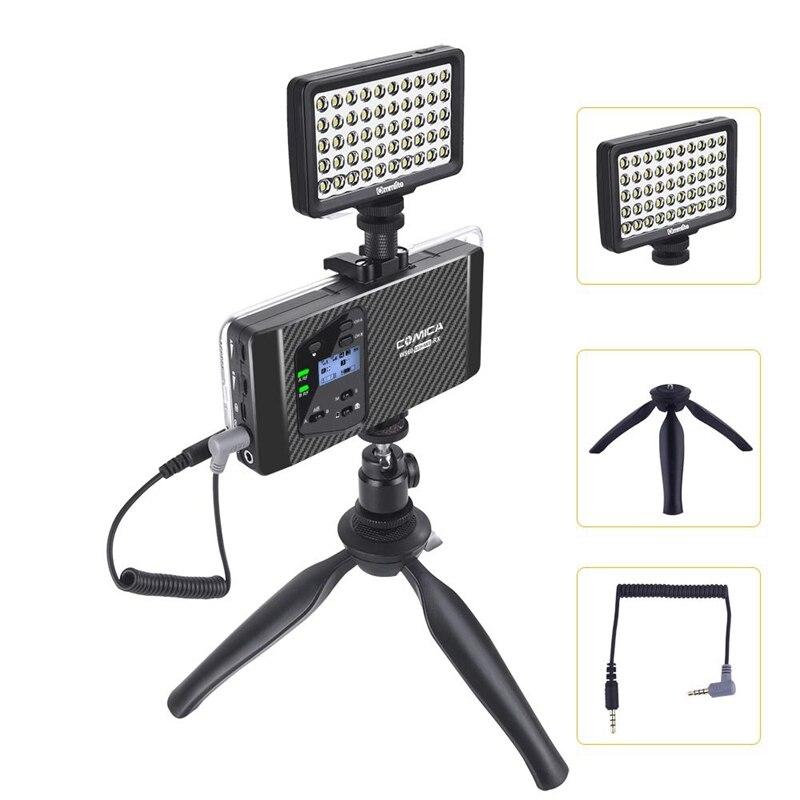 Comica Cvm Ws60 Mini Drahtlose Mikrofon System (Zwei Sender Ein Empfänger) für Smartphones und Kameras, uhf 12 Kanäle 60 M - 5