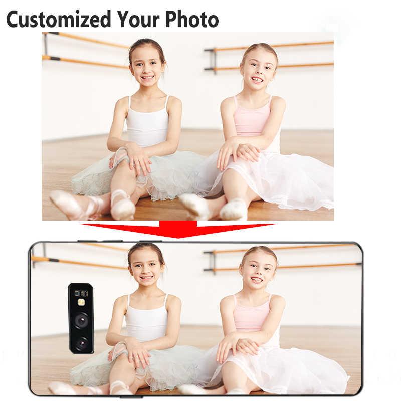 Bricolage Photo Personnalisé étui de téléphone pour xiaomi Redmi 4 4X Pro K20 8A 8 7 7A 6A 6 5 4X Plus Note 8 7 6 5A Doux TPU Couverture Noire Nom Logo