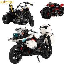680-1075pcs Motorcycles Building Blocks Technic Model Vehicles DIY Assemble Bricks Boys Birthday Gift Toys For Children
