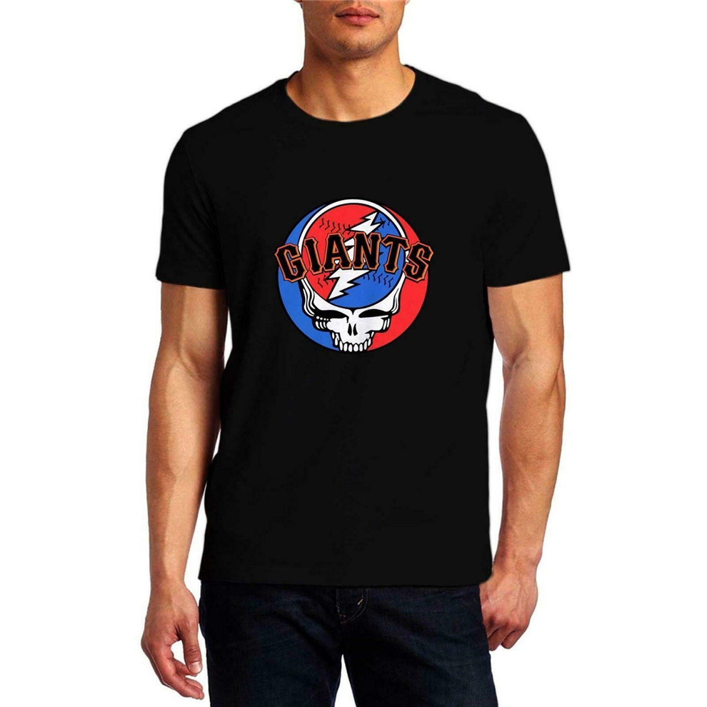 2K19Grateful Dead <font><b>Sf</b></font> Giants <font><b>Tshirt</b></font> Comfortable Men'S Black T-Shirt Size S-Xxl Printed Tee Shirt image