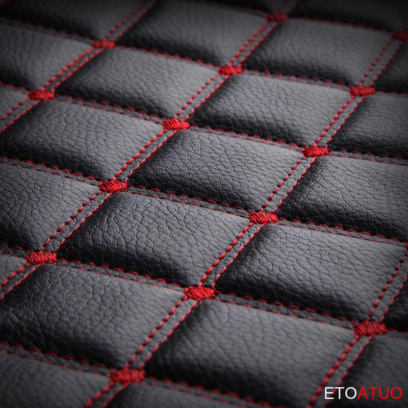 Full Coverage Eco-หนังที่นั่งครอบคลุมหนัง PU รถสำหรับ Peugeot 107 208 301 308 408 RCZ 508 2008 4008 3008