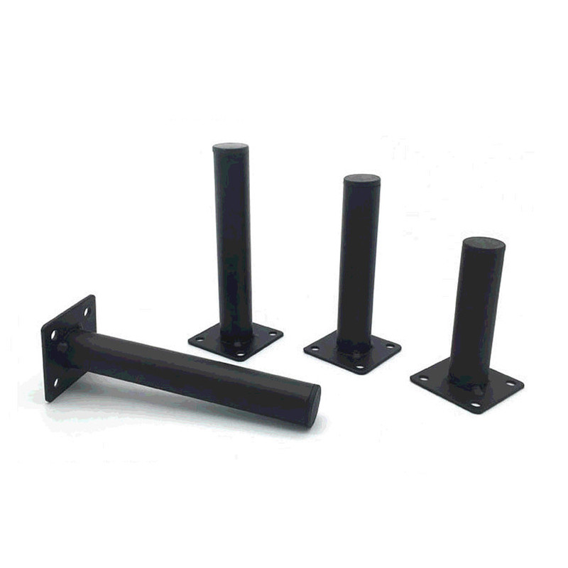 4pcs Black Furniture Legs Cabinet Metal Squar Table Legs Oblique Pin For TV Cabinet Sofa Foot Level Furniture Accessories