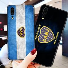 Phone Case Salvio For Huawei P8 Case P9 P10 P20 P30 Black Soft TPU DIY Case For Boca Juniors FC Case Honor 9 V10 Y5 Y6 Y9 Y7 Y9