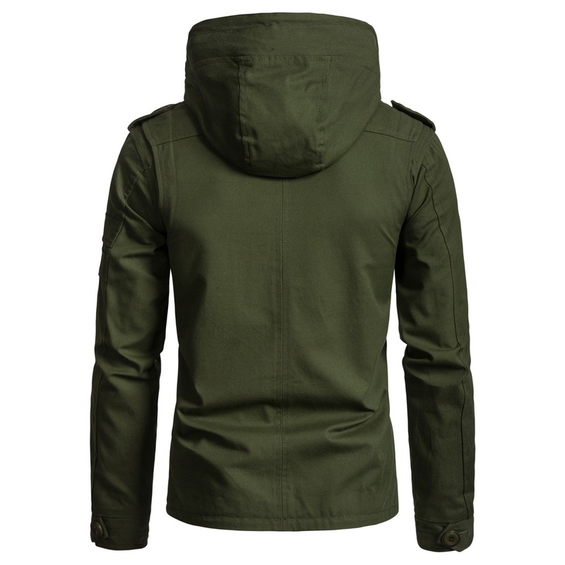 Men's Jacket Army Green Military Wide-waisted  1