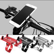 цена на Aluminum Alloy Bike Phone Holder Universal Adjustable Bicycle/Motorcycle  Mount for  Smart Phones
