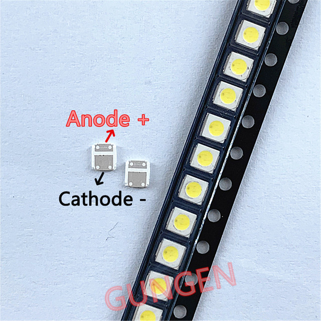 500 個オリジナル Lextar LED バックライトテレビハイパワー LED ダブルチップ 1 ワット 3V 3030 クールホワイト PT30Z50 V1 Tv アプリケーション 3030 3V